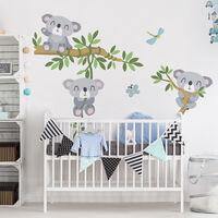 Wandtattoo Kinderzimmer Koala Set Größe: 40cm x 30cm