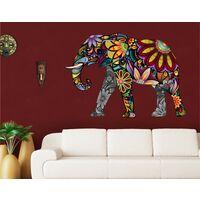 Wandtattoo No.651 Elefantenmuster 108x75cm Größe HxB: 75cm x 108cm