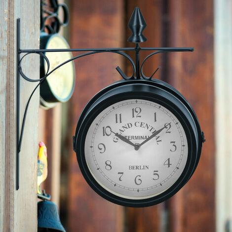 Wanduhr Ø29 cm  Vintage Röhmische Zahlen Uhr Wohnzimmer Küchenuhr Shabby Chic