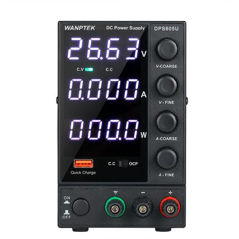 WANPTEK, 0-60V 0-5A 300W Fuente de alimentacion de CC de conmutacion, 115V / 230V 50 / 60Hz