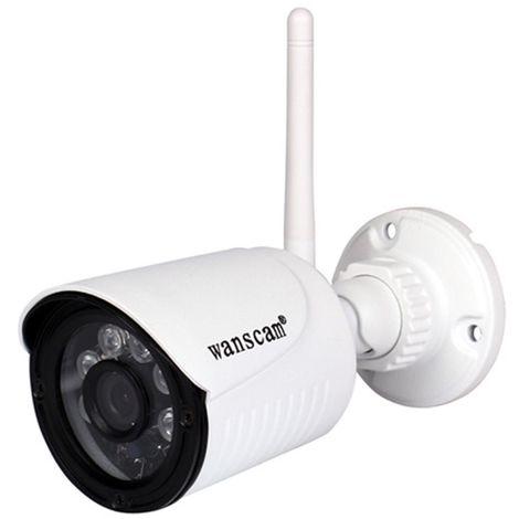 Wanscam 1080P WiFi IP Caméra Extérieur Sans Fil CCTV 2MP 64G TF Card Étanche