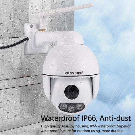 Wanscam Hw0054 Multifuncional al aire libre Ptz 1080P Ip Wifi Cámara Seguridad Visión nocturna Impermeable Cámara de red Cámara de seguridad Grabadora de video Hasaki