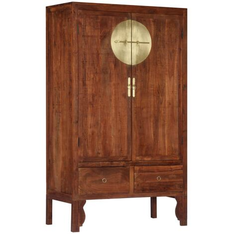 Wardrobe 100x50x175 cm Solid Acacia Wood