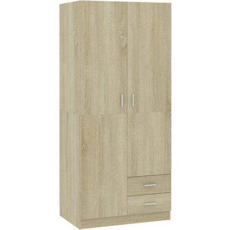 Wardrobe 80x52x180 cm Chipboard Sonoma Oak