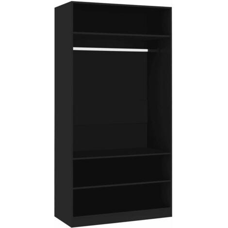 Wardrobe Black 100x50x200 cm Chipboard