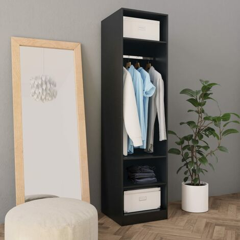 Wardrobe Black 50x50x200 cm Chipboard - Black