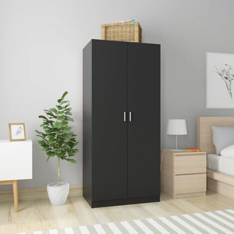 Wardrobe Black 80x52x180 cm Chipboard