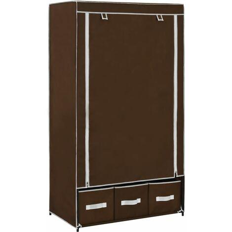 Wardrobe Brown 87x49x159 cm Fabric