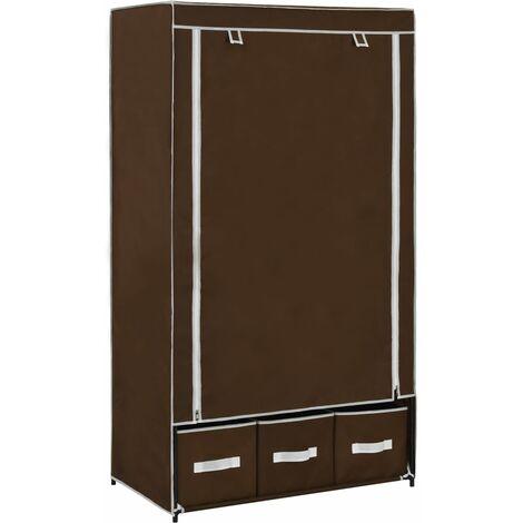Wardrobe Brown 87x49x159 cm Fabric - Brown