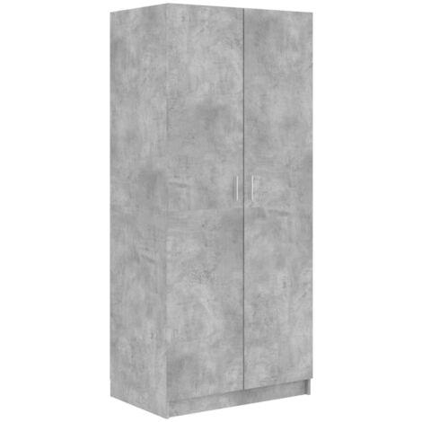 Wardrobe Concrete Grey 80x52x180 cm Chipboard