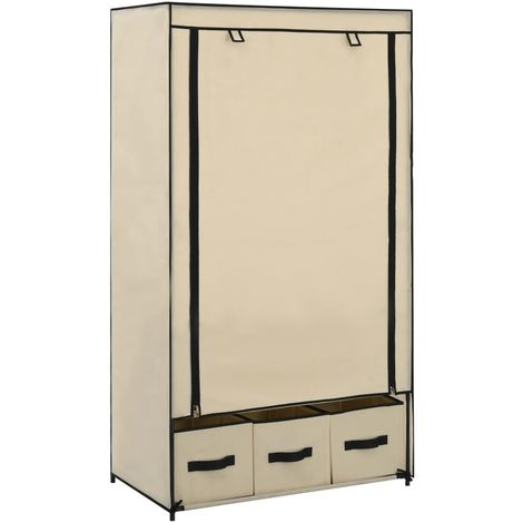 Wardrobe Cream 87x49x159 cm Fabric