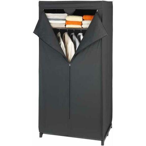 Wardrobe Deep Black with storage shelf WENKO