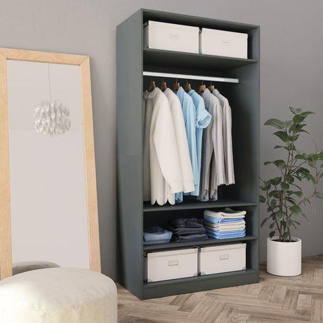 Wardrobe Grey 100x50x200 cm Chipboard