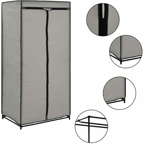 Wardrobe Grey 75x50x160 cm - Grey