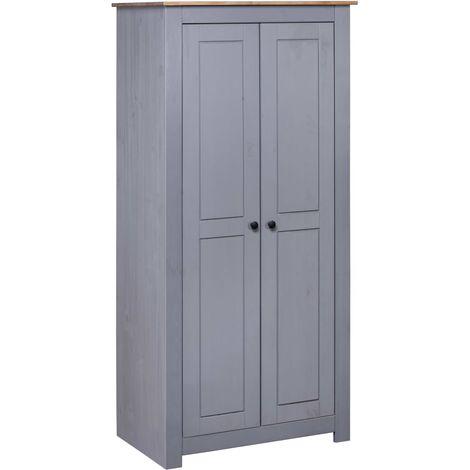 Wardrobe Grey 80x50x171.5 cm Solid Pine Panama Range