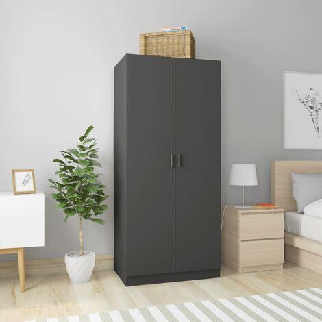 Wardrobe Grey 80x52x180 cm Chipboard