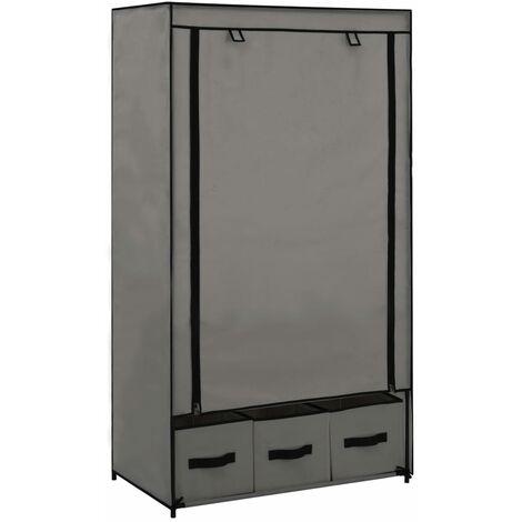 Wardrobe Grey 87x49x159 cm Fabric - Grey
