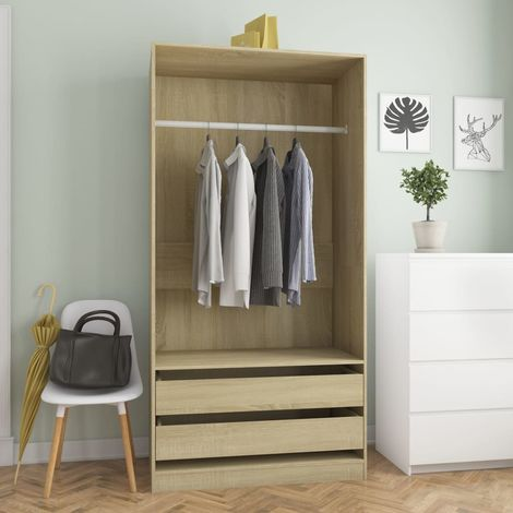 Wardrobe Sonoma Oak 100x50x200 cm Chipboard