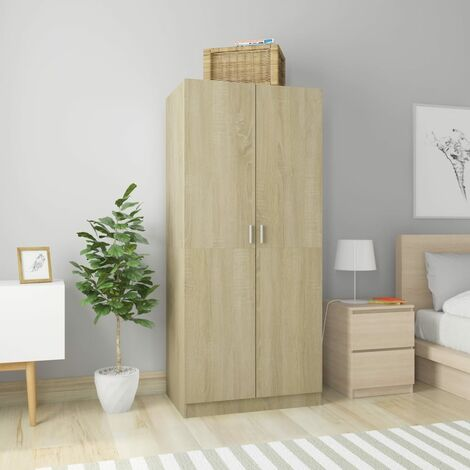 Wardrobe Sonoma Oak 80x52x180 cm Chipboard