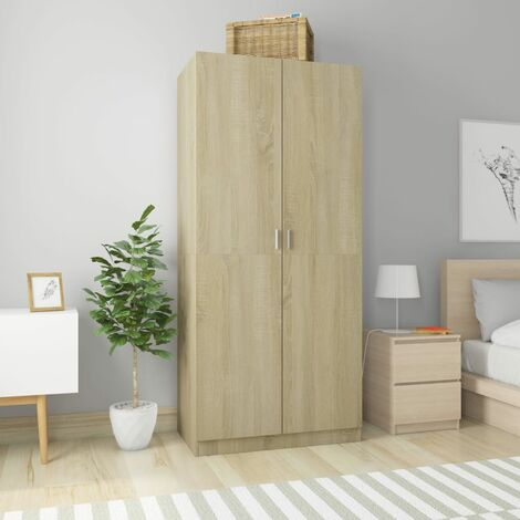 Wardrobe Sonoma Oak 90x52x200 cm Chipboard