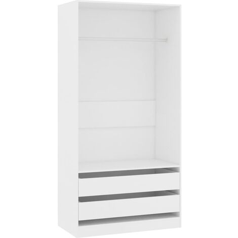 Wardrobe White 100x50x200 cm Chipboard