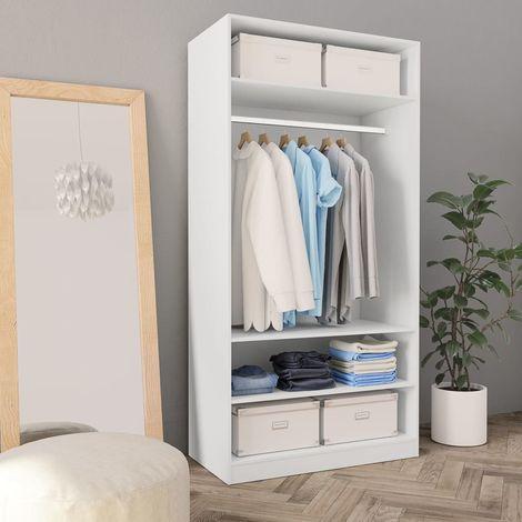Wardrobe White 100x50x200 cm Chipboard