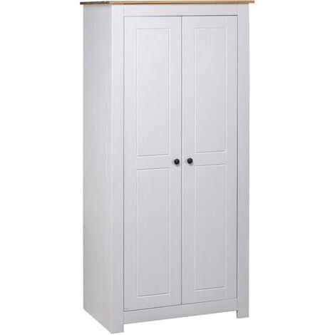 Wardrobe White 80x50x171.5 cm Solid Pine Panama Range