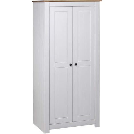 Wardrobe White 80x50x171.5 cm Solid Pine Panama Range - White