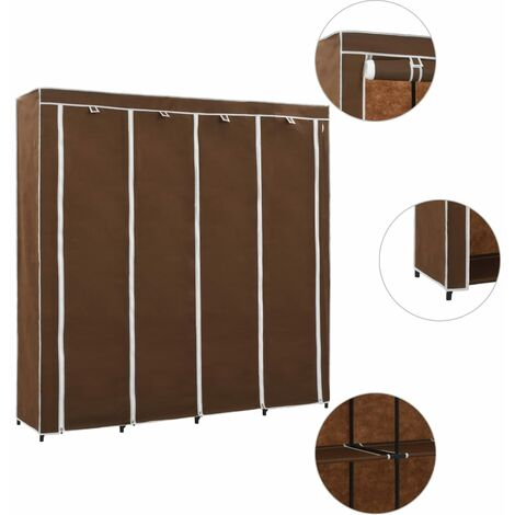 Wardrobe with 4 Compartments Brown 175x45x170 cm - Brown
