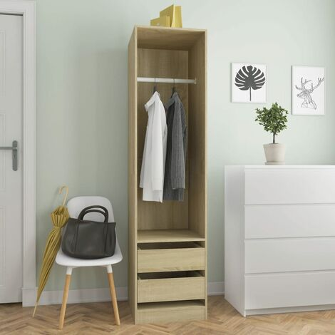 Wardrobe with Drawers Sonoma Oak 50x50x200 cm Chipboard