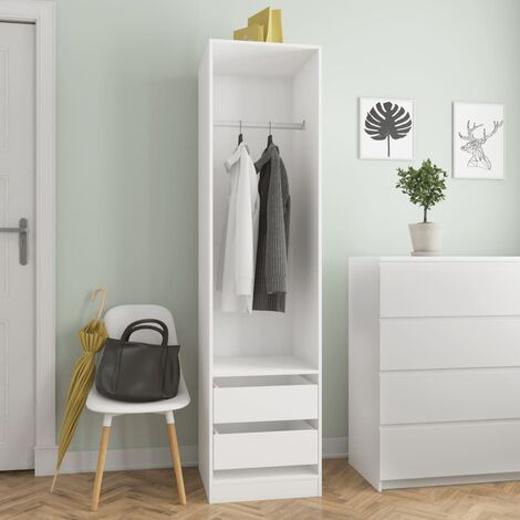 Wardrobe with Drawers White 50x50x200 cm Chipboard
