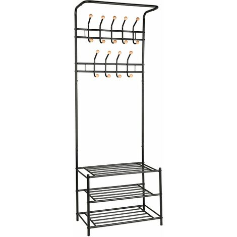 Wardrobe with shoe rack - clothes rack, shoe rack, clothes stand