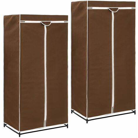 Wardrobes 2 pcs Brown 75x50x160 cm