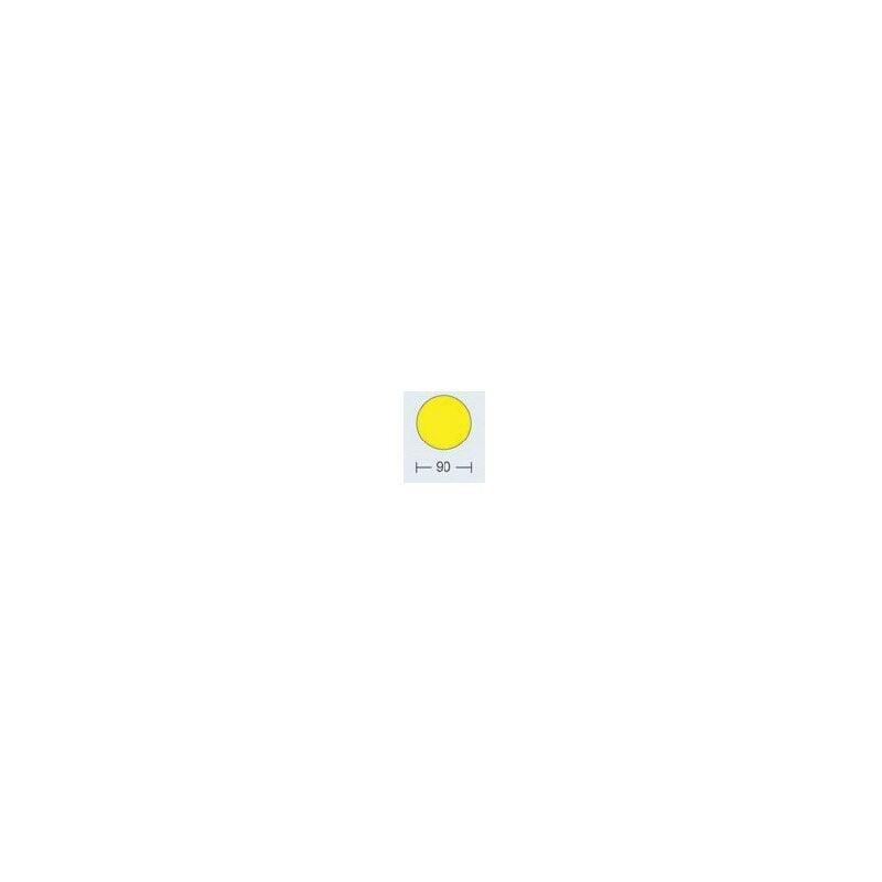 Image of Beaverswood Floor Signalling 90MM Diameter Yellow Dot (Pk-100)