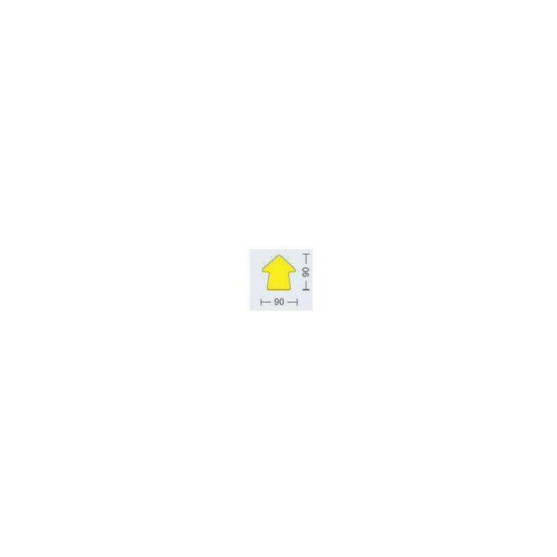 Image of Beaverswood Floor Signalling 90MM High Yellow Arrow (Pk-100)