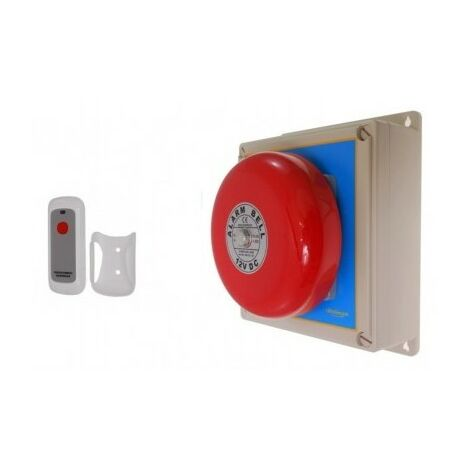 Warehouse Long Range (900 metre) Wireless 'S' Bell System 2 with Internal Push Button [006-2330]