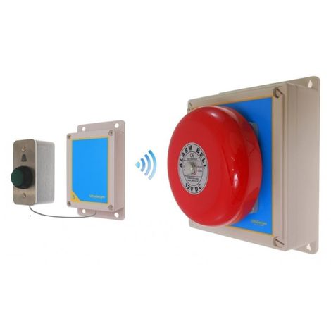 Warehouse Special Long Range (900 metre) Wireless 'S' Bell System 2 Uni Button [006-2820]