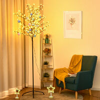 Warm White LED Lights Christmas Xmas Cherry Blossom Tree Indoor Or Outdoor Décor 210CM