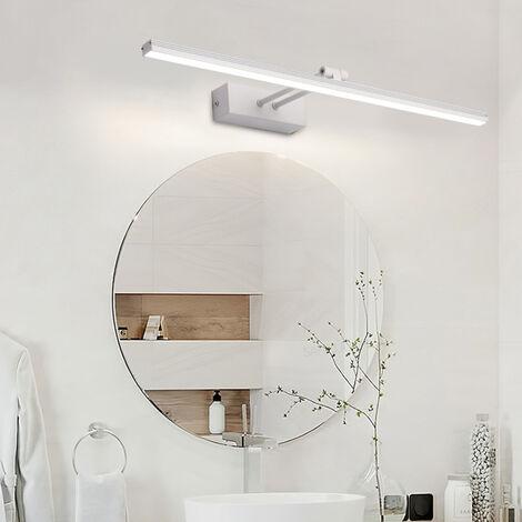 "main image of ""Warm White LED Wall Light Mirror Lamp 10W 3200K Modern Indoor Bathroom Lighting Black Lamp Bathroom Lighting 50CM [Energy class A +]"""