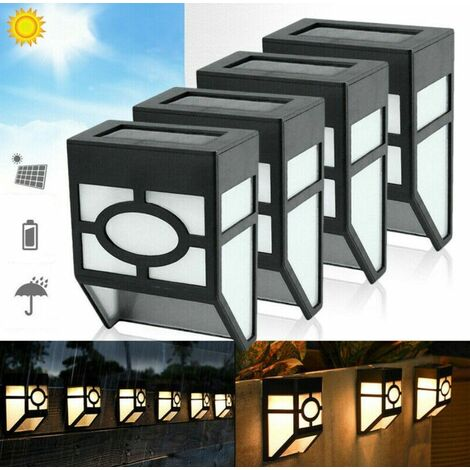 Warm White light Outdoor Solar Powered Wall Mount LED Lights