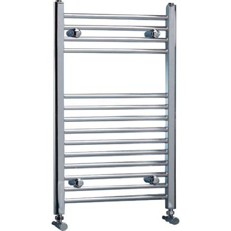 Warmbase LoCo Straight 400 x 700mm Chrome Ladder Rail - size 400 x 700mm - color Chrome