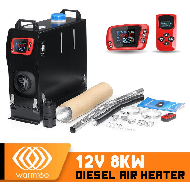 Warmtoo 12V 8KW chauffage à air Diesel chauffage de stationnement de voiture chauffage de voiture pour le coffre de voiture Van bateau
