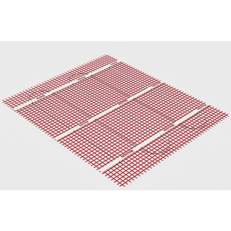 Warmup Electric Underfloor Heating Sticky Mat Kit Red Floor Cable 150W/m2 -1.5m2