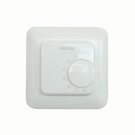 Warmup Thermostatic Controller Manually Operated White Underfloor Heating MSTAT