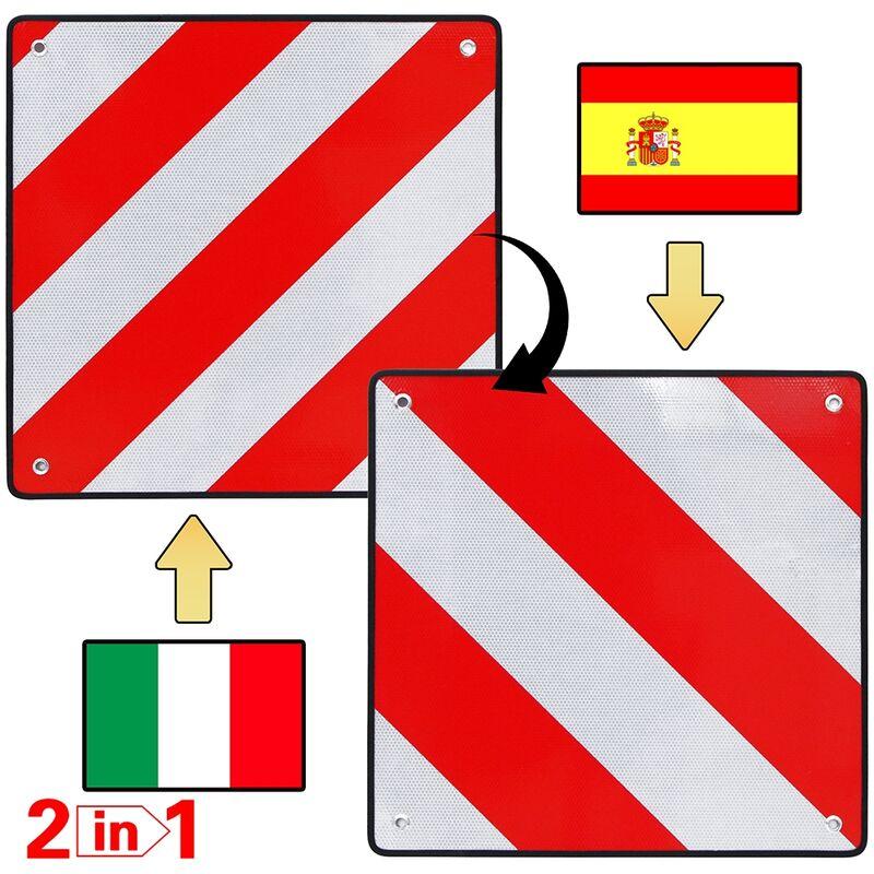 Fahrradschutzhülle Wohnwagen /& Wohnmobil Warntafel für Spanien 50x50 im Set