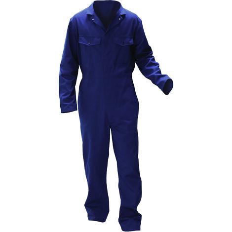 Warrior - Combinaison de travail - Homme (XL x Régulier) (Bleu marine)