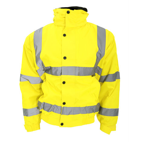 Warrior Memphis High Visibility Bomber Jacket / Safety Wear / Workwear