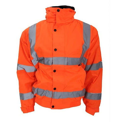 Warrior Mens Tulsa Hi-Vis Bomber Jacket