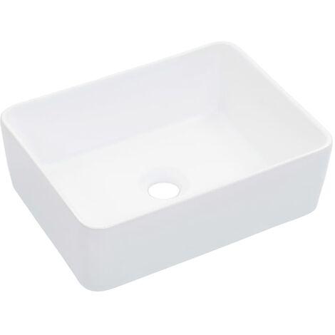 Waschbecken 40 x 30 x 13 cm Keramik Weiß