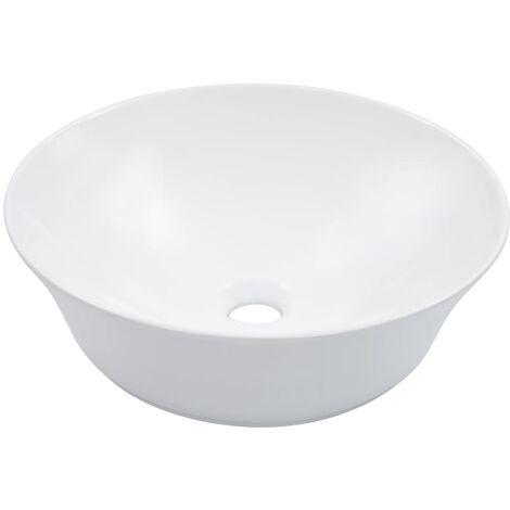 Waschbecken 41 x 12,5 cm Keramik Weiß